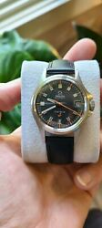 Vintage 1968 Omega Admiralty Automatic Geneve Black Dial 166.038 Calibre 565