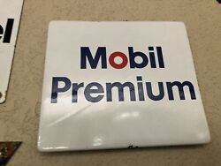 Mobil Premium Gas Pump Sign Hard To Find Small One