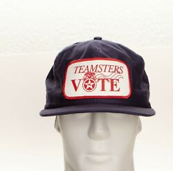 Vintage Teamsters Vote And03996 Vtg Patch Snapback Hat Cap Usa Union Made Louisville