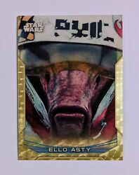 2020 Topps Star Wars Chrome Perspectives Ello Asty - Superfractor - 1/1