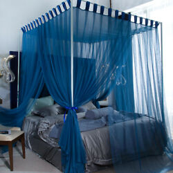 Summer Bed Netting Antique Style Stoving Varnish Tubes Mosquito Net Queen King