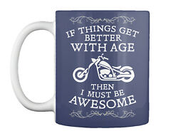 Teespring Motorcycle Better With Age Mug - Ceramic By Old Schoolers Unite