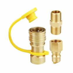 3/8 Inch Natural Gas Quick Connect Fittings Lp Gas Propane Hose Quick Disconnect