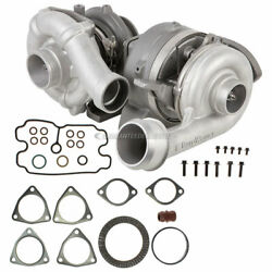 For Ford F250 F350 F450 6.4 Dsl Compound Turbo Kit W/ Turbocharger Gaskets Csw