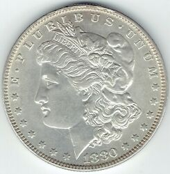 1880-o 1 Morgan Silver Dollar Top End Au/slider, Fits Nicely In Most Sets