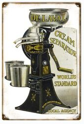 Vintage Style Sign De Laval Cream Separator Worlds Standard Local Agency 18 X 12