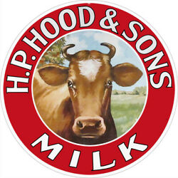 Vintage Style Sign Hp Hood And Sons Milk 14 X 14