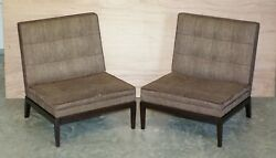 Pair Of Rrp Andpound7660 George Smith Norris Armchairs Upholstery Project Restoration