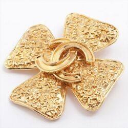 Coco Mark 95a Brooch Gold Plated Gold