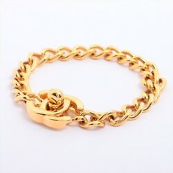 Coco Mark Turn Lock 96p Bracelet Gold Plated Gold