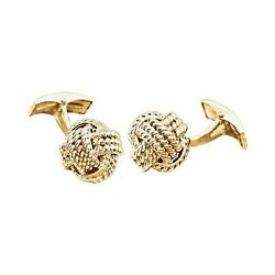 Rope Style Love Knot Cufflinks 14k Yellow Or White Gold