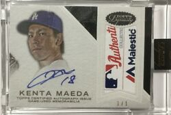 Limited To 1/1 Piece Kenta Maeda Direct Writerokie Sign Tag Patch 2016 Topps
