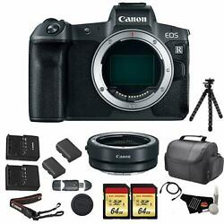 Canon Eos R Mirrorless Digital Camera Body Only Bundle +canon Mount Adapter +