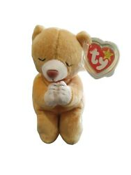 Ty Beanie Baby- Hope Praying Bear. Has All Errors. Very Rare Tag In Case