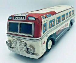 1960's Vintage Tin Bus By Masudaya Modern Toys Japan Battery Operated Untested