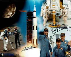Nasa Apollo 13 8 X 10 Photo Collage Signed By Jim Lovell And Fred Haise Coa Asf