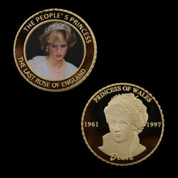 The Last Rose Of Diana Gold Coin Commemorative Royal Souvenir Coins Holiday Gift