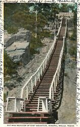 Vintage Postcard 1923 Fat Man Reducer Up East Mountain Mineral Wells Texas Tx