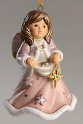 Goebel Angel Christmas Bell Angel With Gold Star - Boxed 11859185