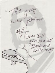 Michael Jackson Handwritten Signed Note On Mjj Stationery Ca. 8 1/2 By 11 Inches