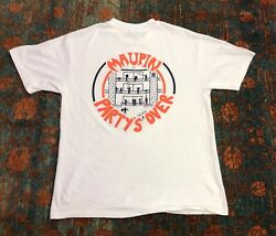 Vintage University Of Virginia Maupin Party's Never Over 1995 T Shirt Size Large