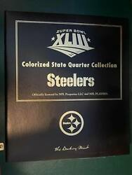 Super Bowl 43 Colorized State Quarter Steeler Collection Complete