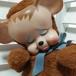 Used Rubber Face Doll Crying Crybaby Plush Toy Antique Rare Japan