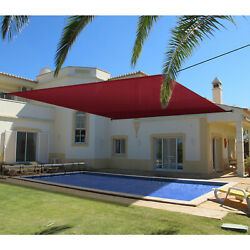 Patio Outdoor Universal Pergola Canopy Cover Waterproof-red 14and039-16and039 W/grommets