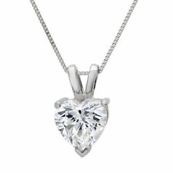 0.5 Ct Heart Cut Natural Diamond Stone 18k White Gold Pendant With 16 Chain
