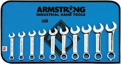 Extra Short Combo Wrench Set 12pt 10-19mm Armstrong Tools Metric In Roll Pouch