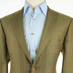 New 8000 Kiton Cashmere Olive Modern Cut 2 Button Menand039s Sport Coat Us 44r