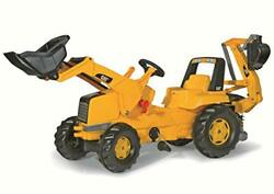 Rolly Toys Cat Construction Pedal Tractor Backhoe Loader Front Loader And Excav