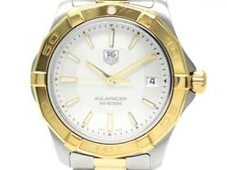 Tag Heuer Aqua Racer Watch Stainless Little Plated Silver Document Quartz