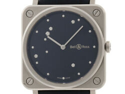 Bell And Ross Bell And Ros Eagle Quartz Blue Diagram 7p Diamond Leather / Ss
