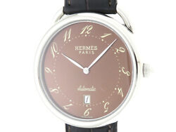 Hermes Watch Also Ar4.810 Menand039s Stainless Leather Andtimes Leather Automatic Wou