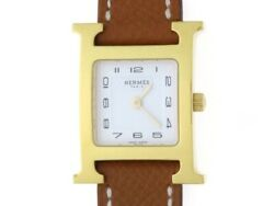 Womenand039s Watch H Watch Hh1.201 White Difference Gp Ss Leather Belt [436]