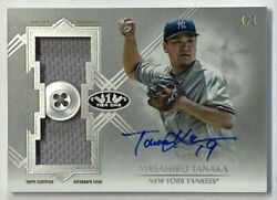 Limited To 1/1 Piece Masahiro Tanaka Direct Sign Button/jersey 2019 Topps Tire