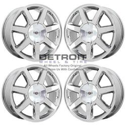 17 Cadillac Sts Pvd Bright Chrome-h 4 Wheels Rims Factory Oem 4582 2005-2009