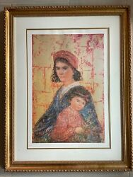 Abyssinia Queen By Edna Hilel Rare Lithograph , Numbered And Hand Sign W Coa