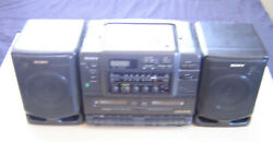 Vintage Sony Cd Radio Cassette-corder Cfd-540 Boombox Beautiful Condition Tested