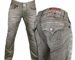 True Religion Jeans Men's Ricky Super T Coated Size 28 Taupe 24859nbt2