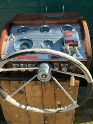Vintage Boat Steering Console Owens Boat Replacement Part Ohio Pick Up Only