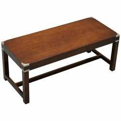 Luxury Rrp Andpound2400 Kennedy Harrods London Military Campaign Coffee Cocktail Table