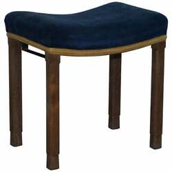 Rare Original King George Vi Coronation Stool 1937 Limed Oak By Waring And Gillow