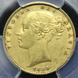 Rare Popular Gold Coin 1856 United Kingdom Queen Victoria Young Head Sovereign