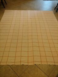 Vintage Chenille Bedspread 102 X 86 Cutter Pink And Tan