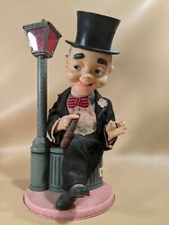 Vintage Smoking And Drinking Man Battery Tin Collectible Toy