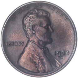 1924 D Lincoln Wheat Cent Extra Fine Penny Xf Old Cleaning See Pics H709