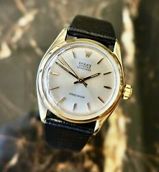 A Beautiful Vintage 1959 Mid-size 9ct Gold Rolex Oyster Speedking Wristwatch