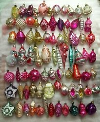 Set 80 Vintage Russian Ussr Glass Christmas Ornaments Xmas Tree Old Decorations
